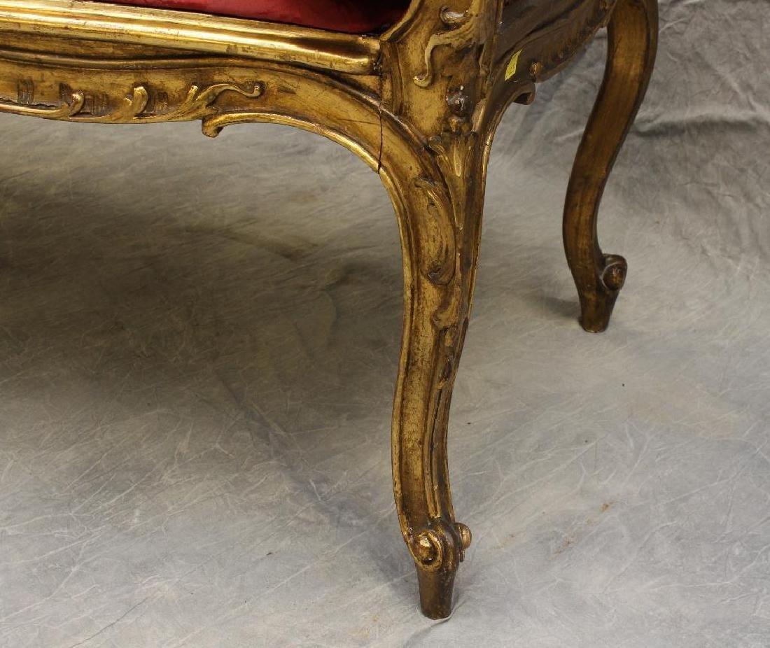 Louis XV Giltwood Diminutive Chaise Lounge - 4