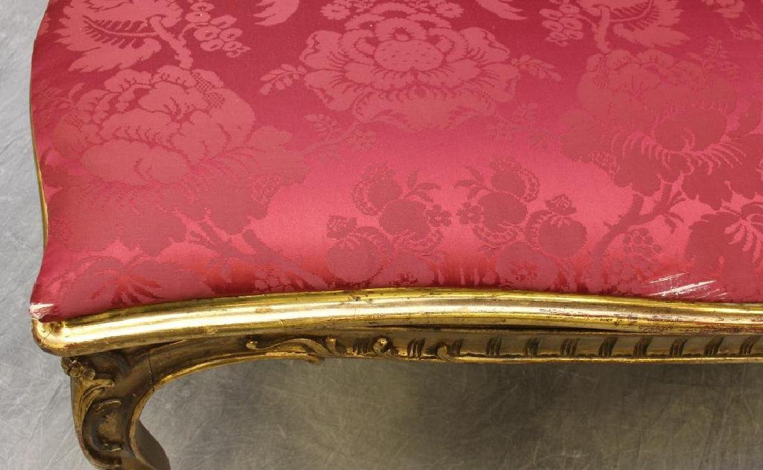 Louis XV Giltwood Diminutive Chaise Lounge - 5