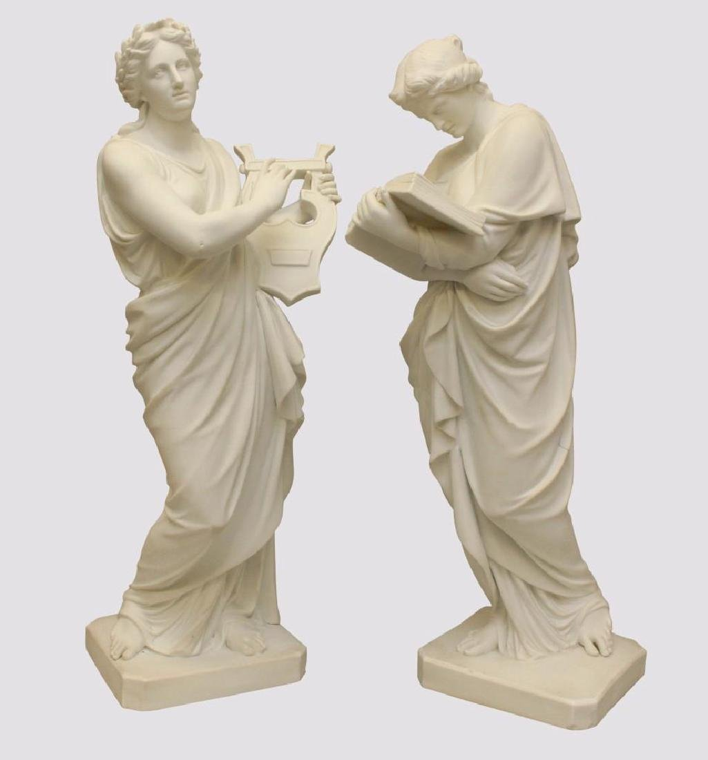 Pair of Classical Figural Sculptures
