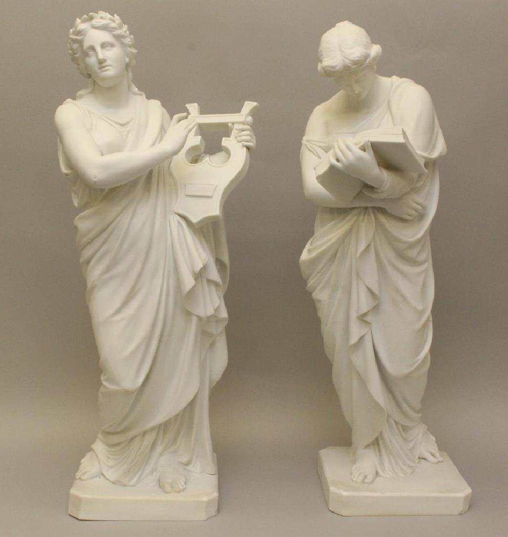 Pair of Classical Figural Sculptures - 6