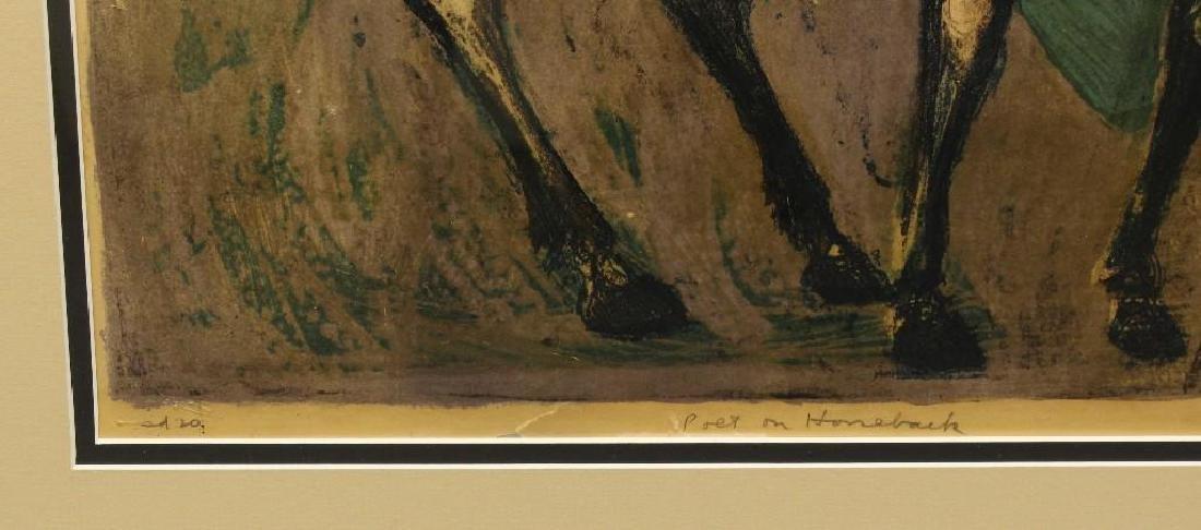 "Benton Spruance (1904-1967, Pennsylvania) ""Poet on - 3"