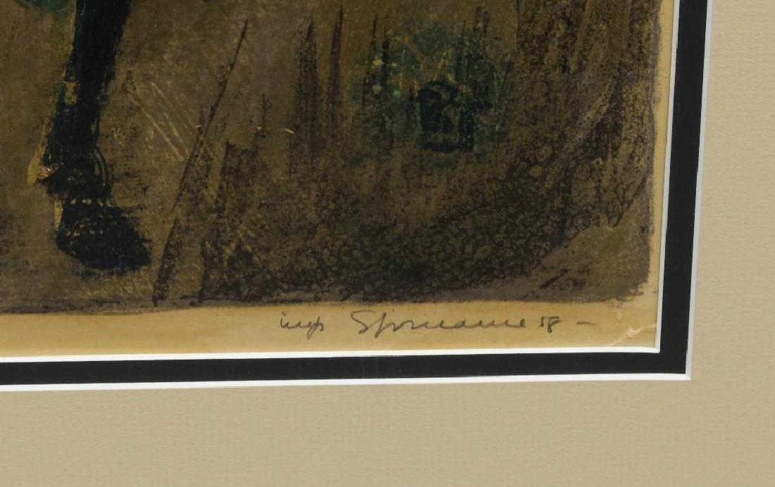 "Benton Spruance (1904-1967, Pennsylvania) ""Poet on - 4"