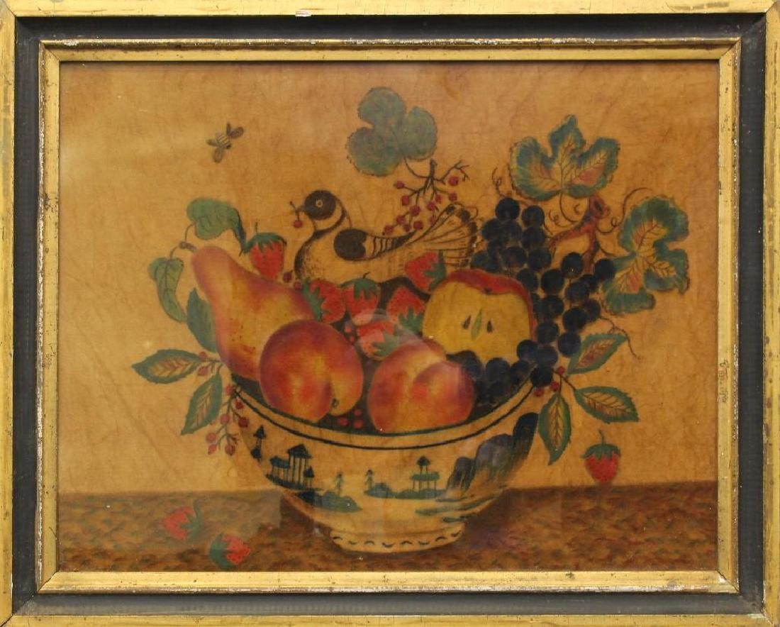 Bird and Fruit in Bowl