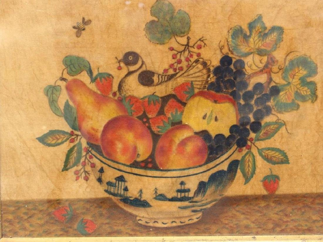 Bird and Fruit in Bowl - 2