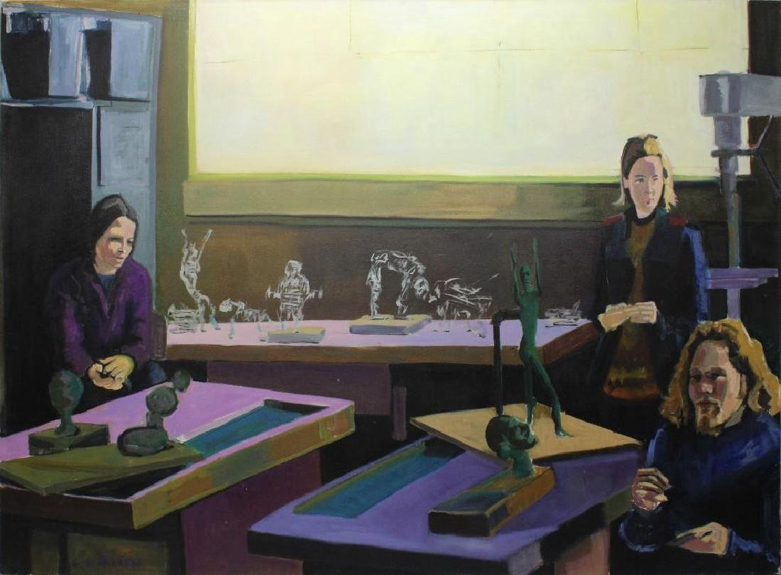 Glenn D Harren (b. 1952, United States) Artist Studio