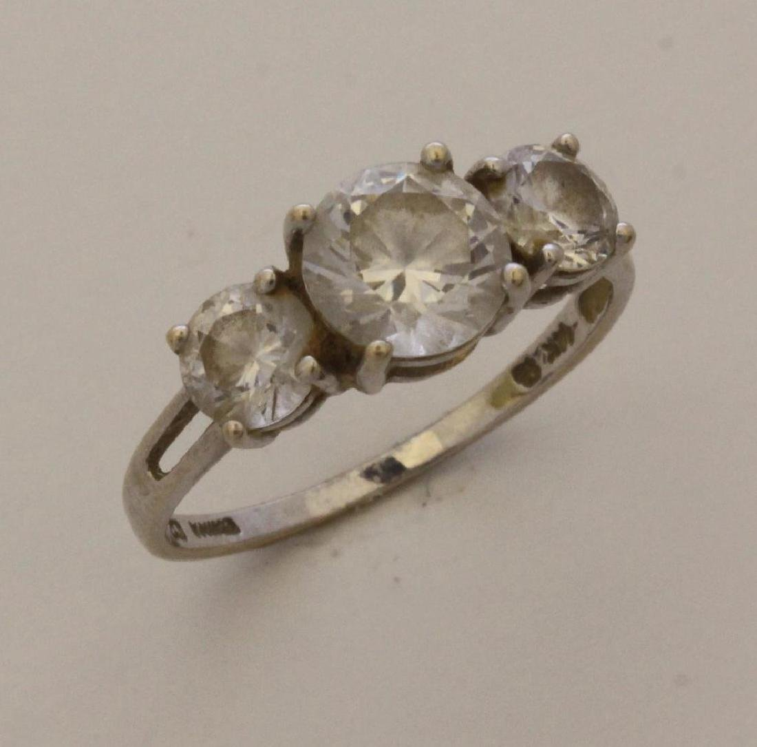14KW Gold Ring and Sterling SIlver Bracelet with CZ - 2