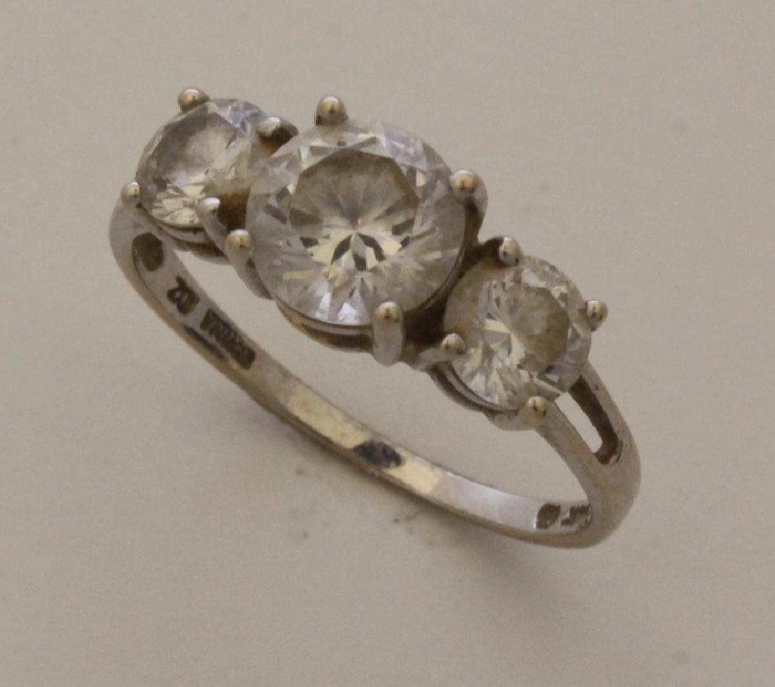 14KW Gold Ring and Sterling SIlver Bracelet with CZ - 3