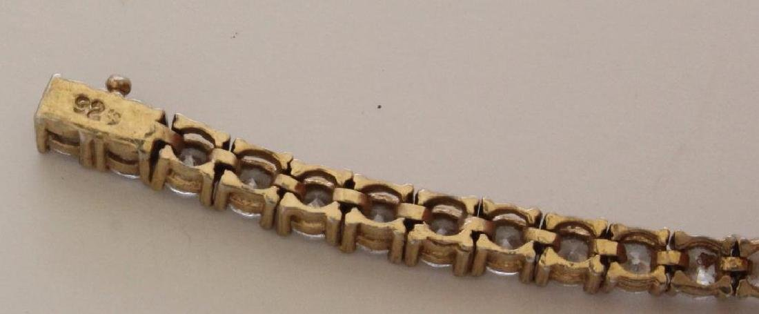 14KW Gold Ring and Sterling SIlver Bracelet with CZ - 5