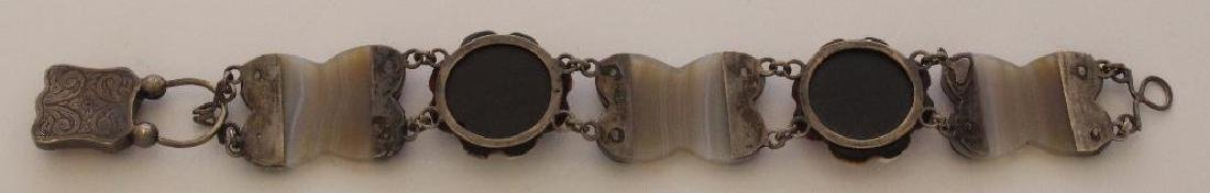 Sterling Bracelet with Agate. Irish - 2
