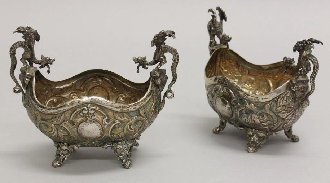 Pair of Continental Silver Footed Bowls