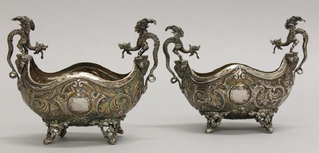 Pair of Continental Silver Footed Bowls - 2