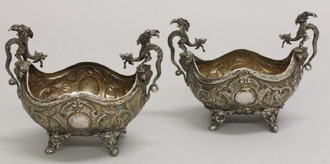 Pair of Continental Silver Footed Bowls - 4