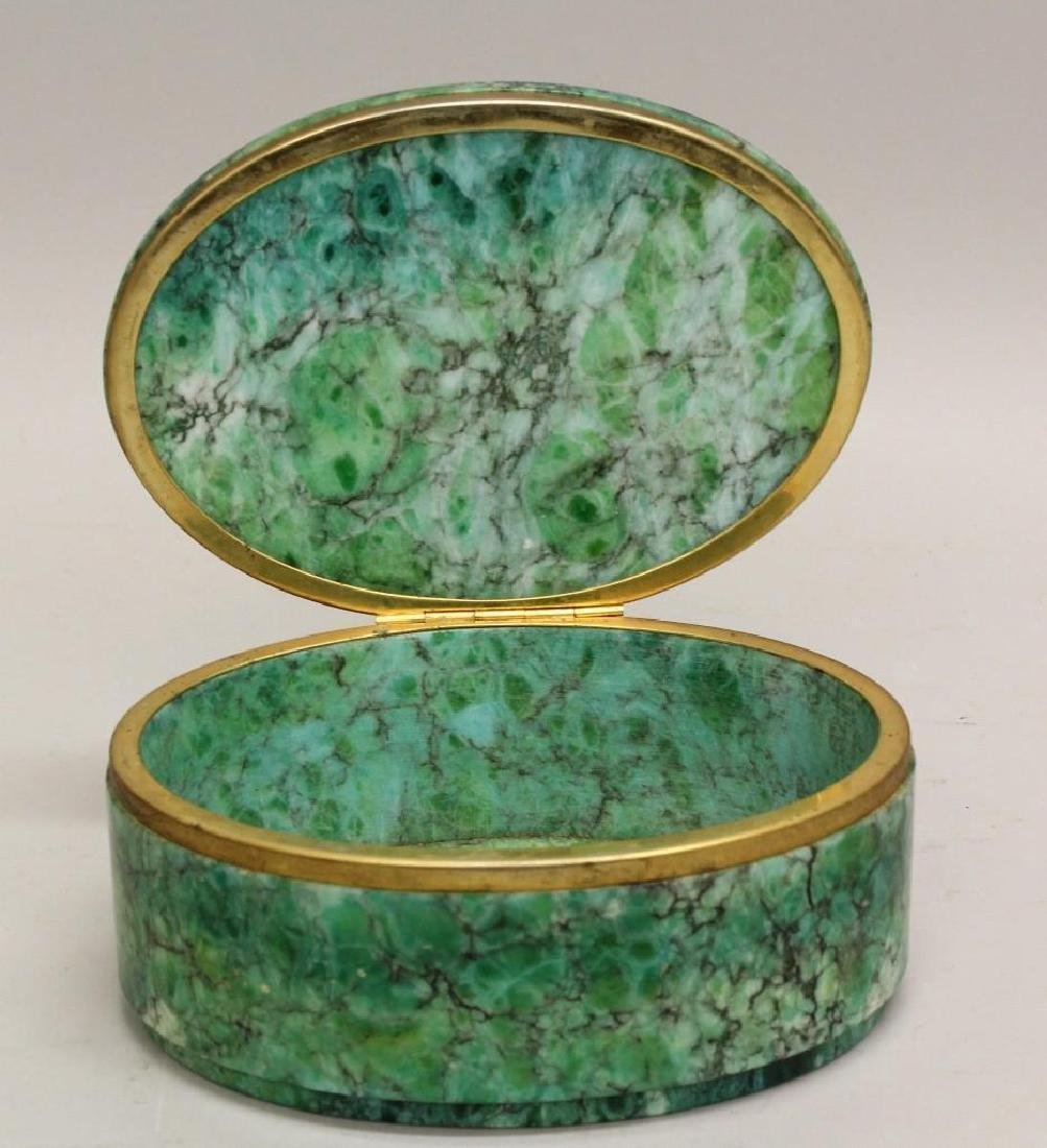 Green Marble Oval Box