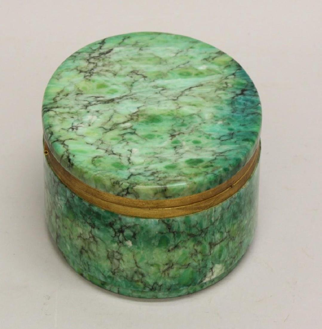 Green Marble Oval Box - 3