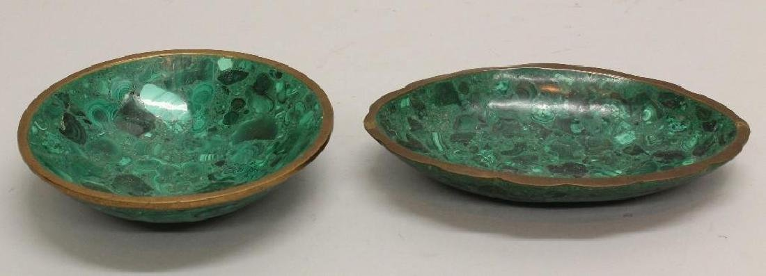 Pair of Malachite Bowls