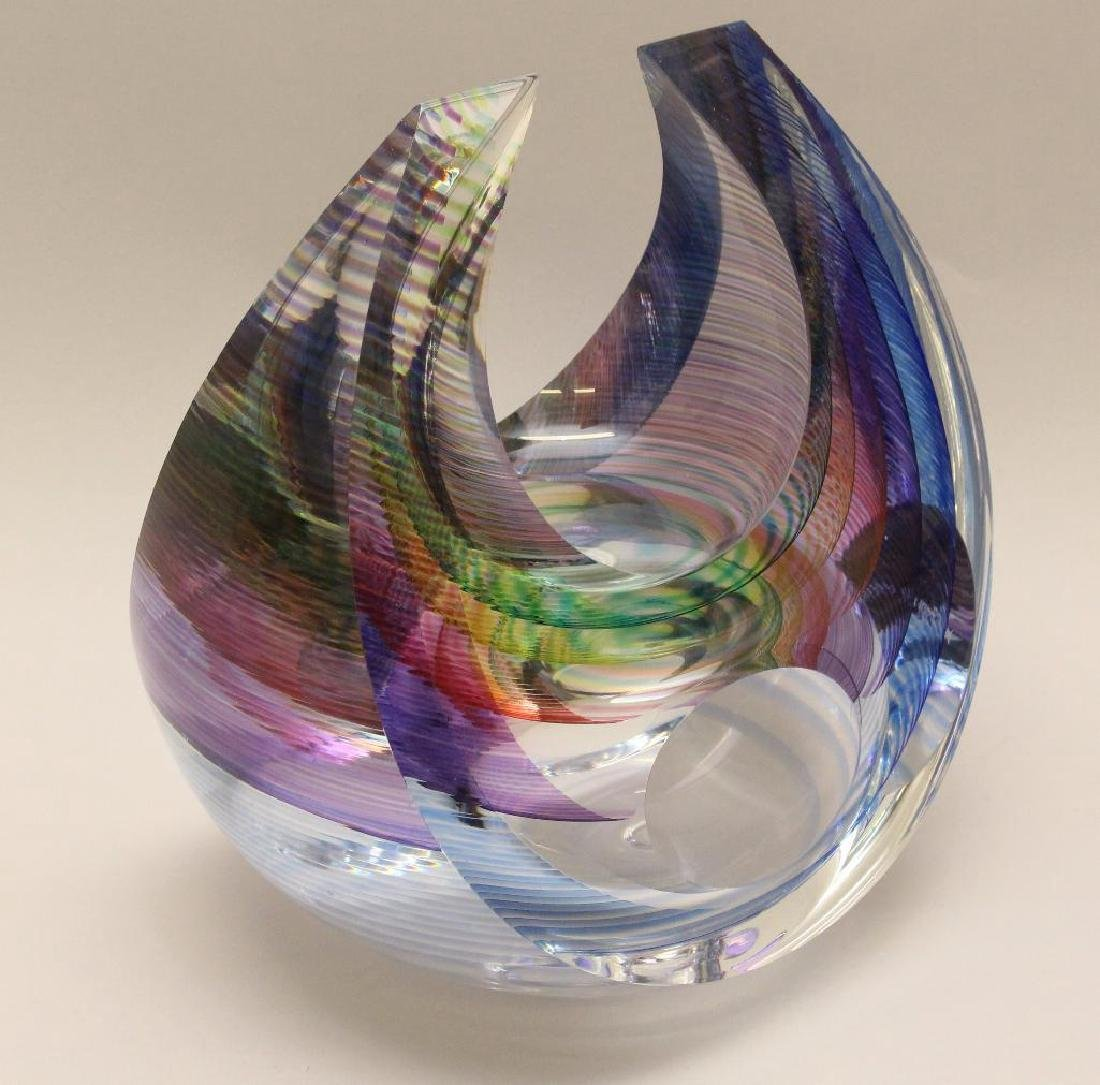 Michael David and Kit Karbler Art Glass Vessel