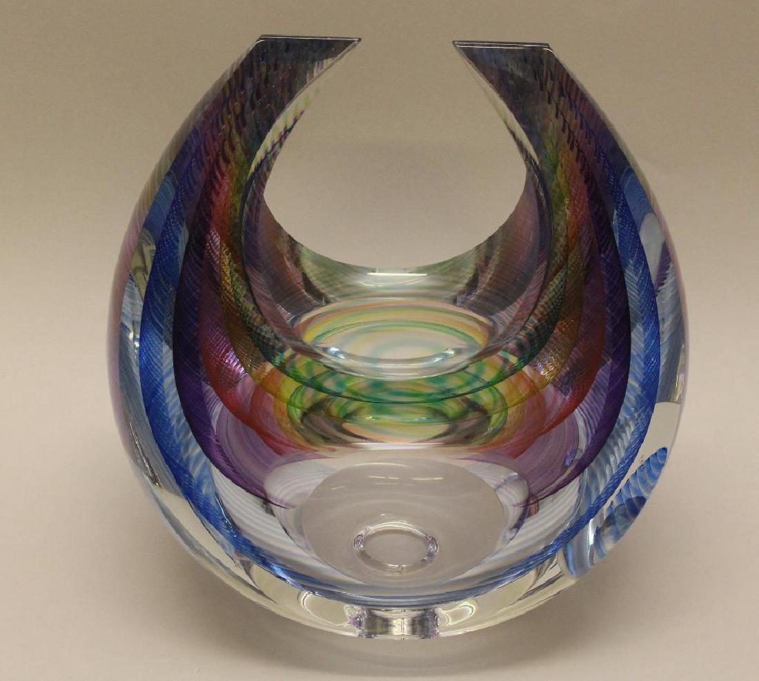 Michael David and Kit Karbler Art Glass Vessel - 2