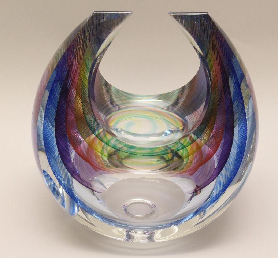 Michael David and Kit Karbler Art Glass Vessel - 3