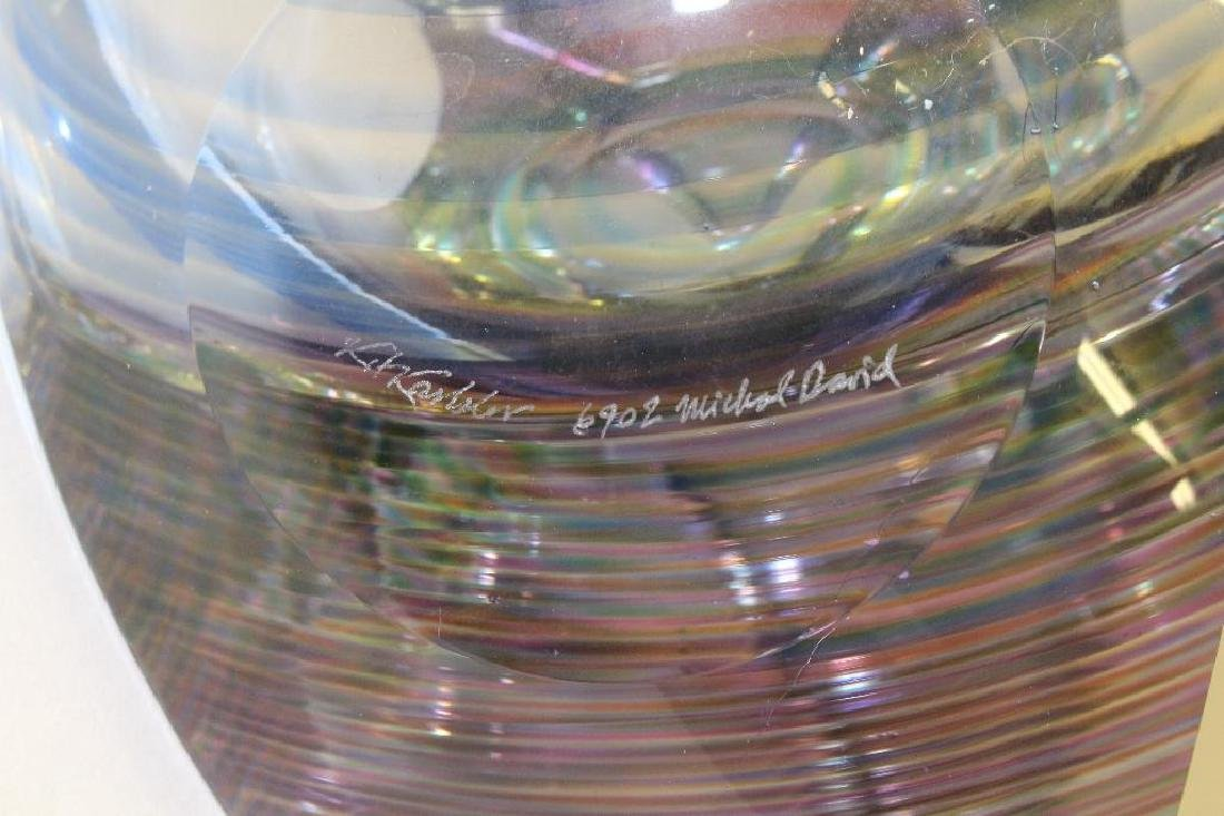 Michael David and Kit Karbler Art Glass Vessel - 4