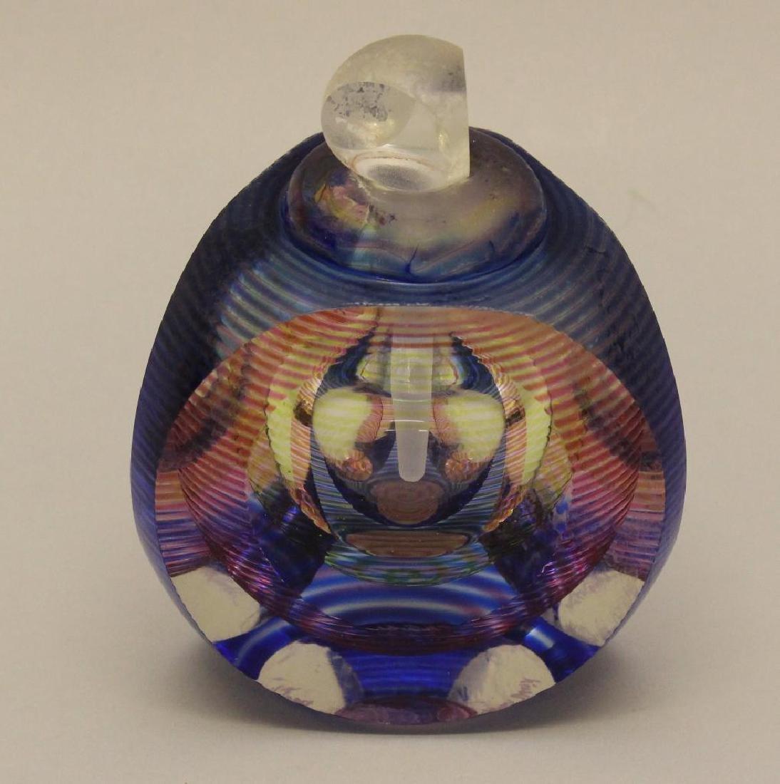 Michael David and Kit Karbler Art Glass Perfume Bottle