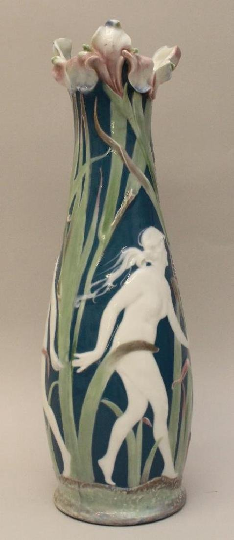 French Pate de Sur Vase