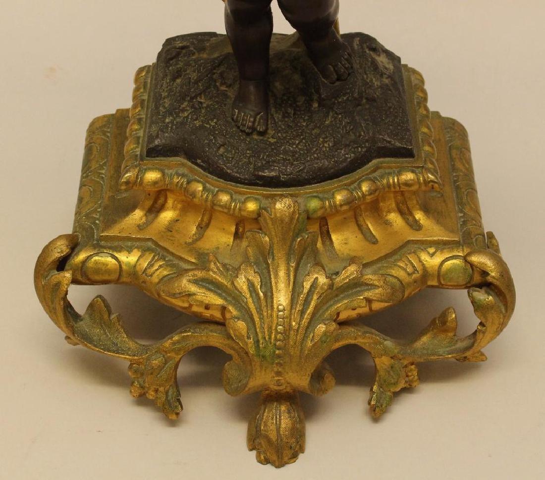 French Gilt Bronze Candelabra - 4