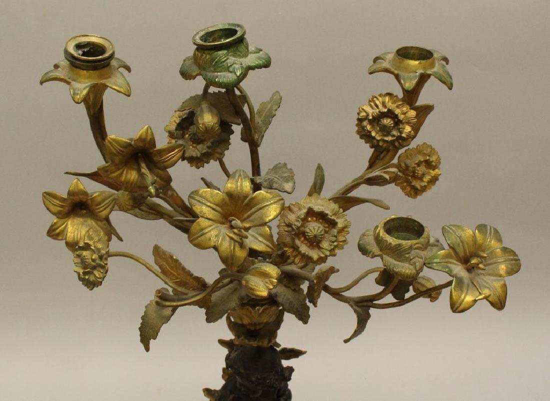 French Gilt Bronze Candelabra - 5