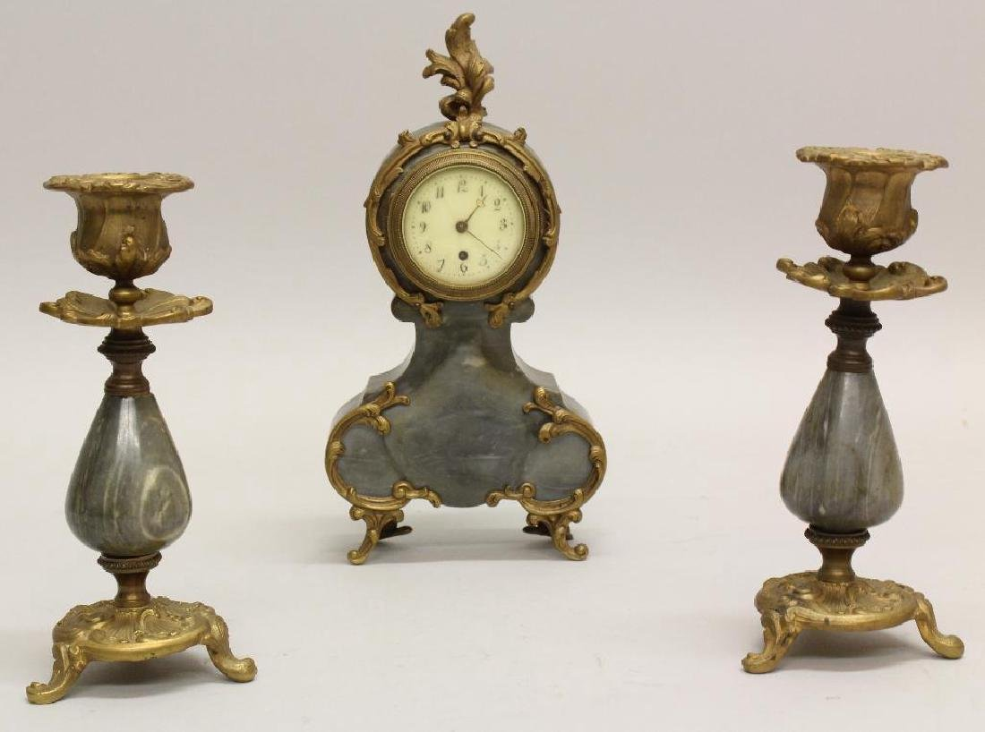 Julien LeRoy Garniture Clock Set