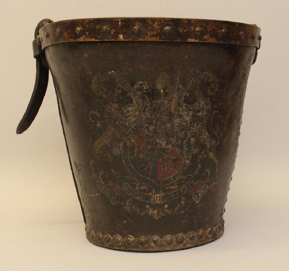 English Leather Fire Bucket