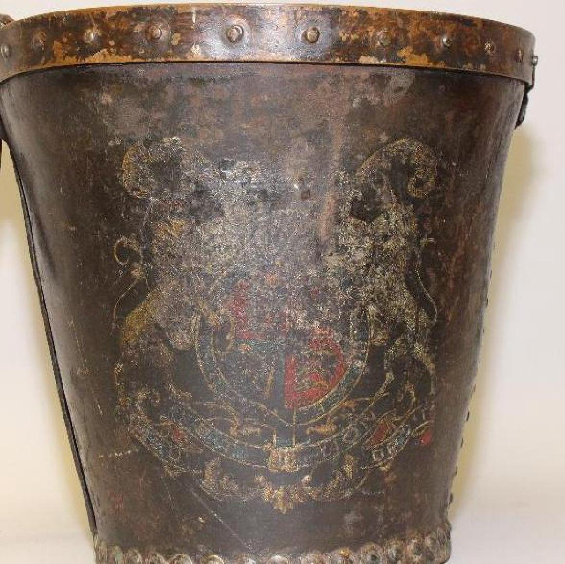 English Leather Fire Bucket - 2