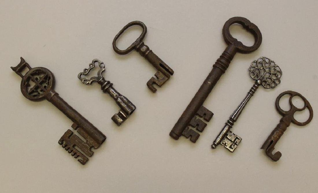 Grouping of (6) Hand Forged Keys