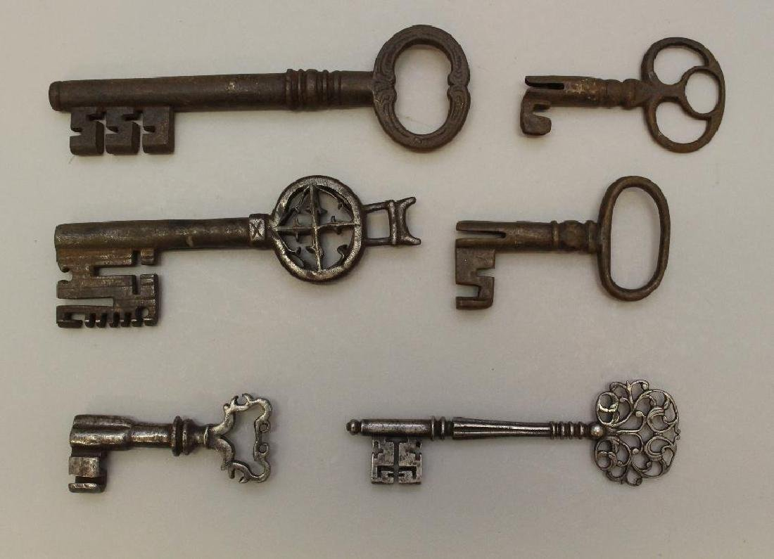 Grouping of (6) Hand Forged Keys - 2