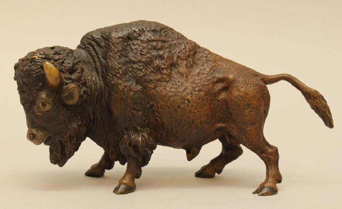 Austrian Cold Painted Bronze Bison