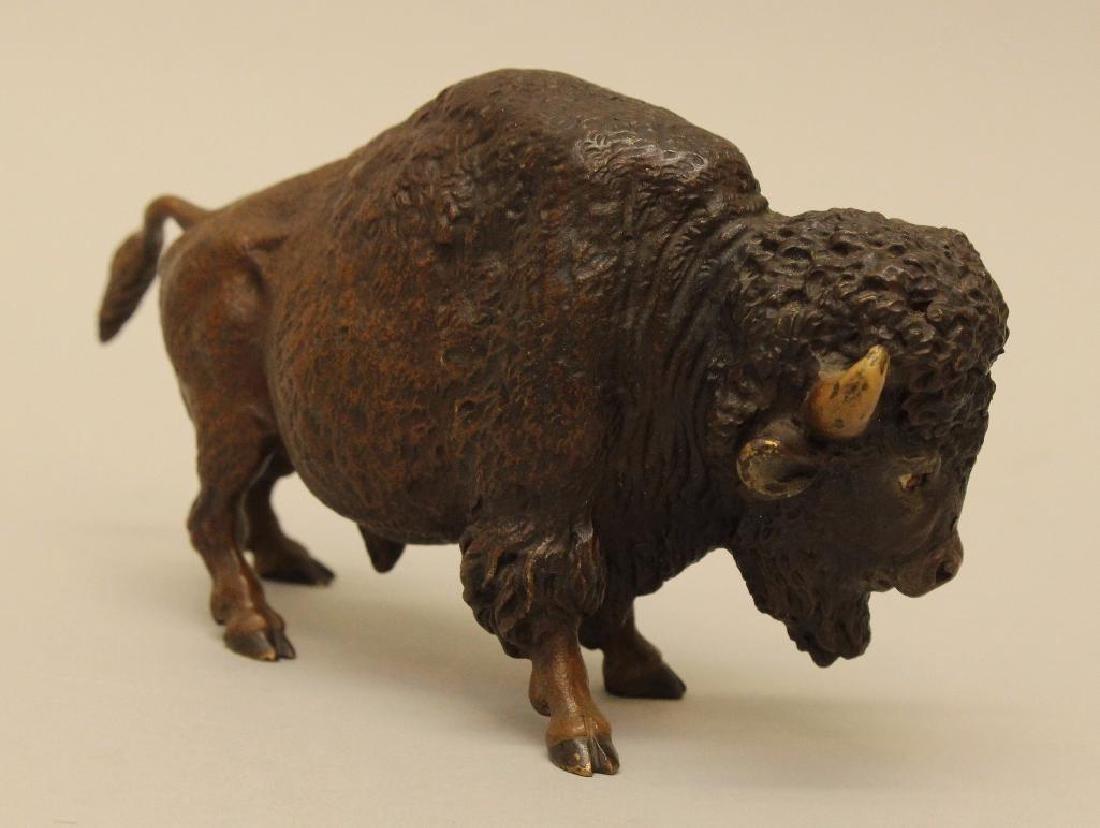 Austrian Cold Painted Bronze Bison - 3