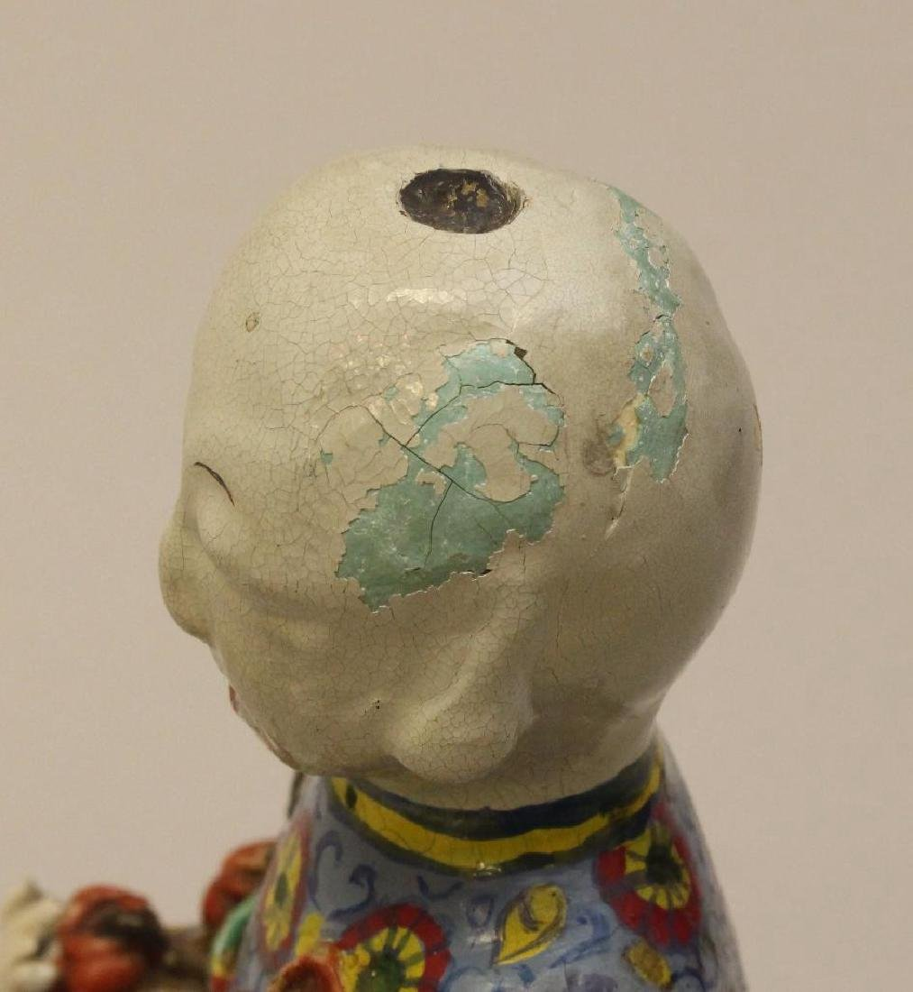 (2) Pair of Chinese Polychrome Figures - 3