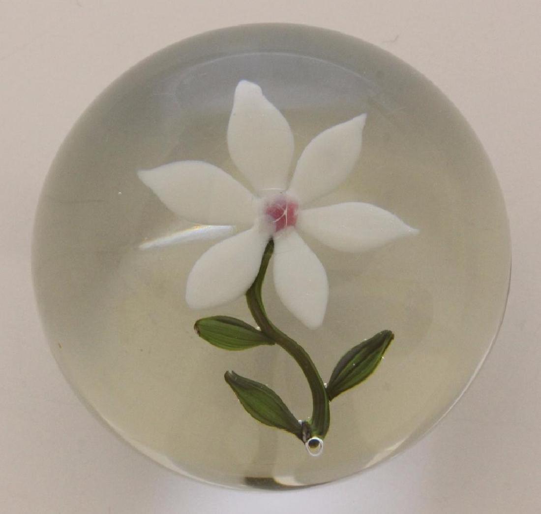 Paul Stankard (b 1943, New Jersey)  White Flower
