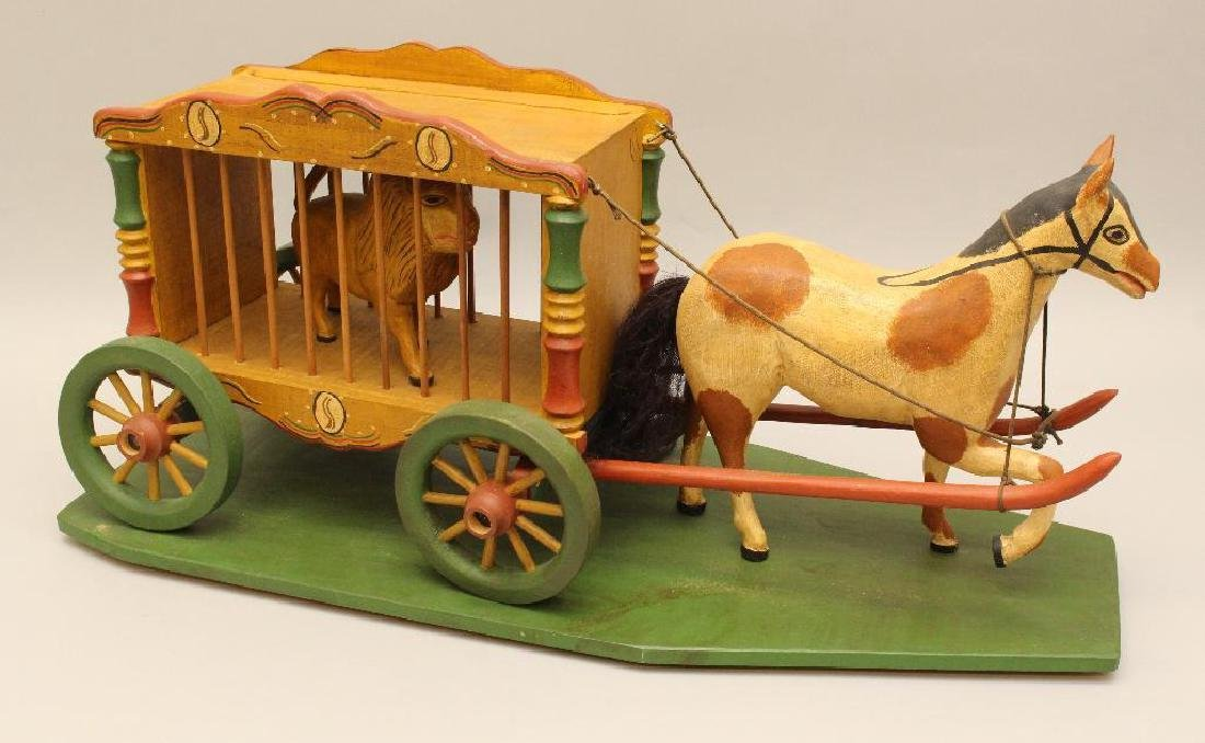 Painted and Carved Folk Art Sculpture