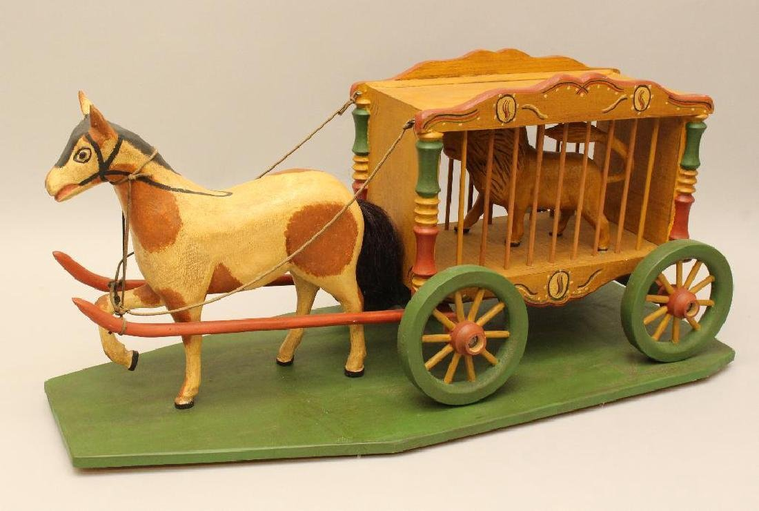 Painted and Carved Folk Art Sculpture - 2