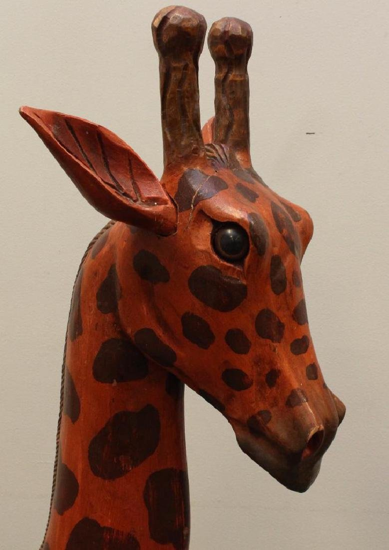 Painted and Carved Giraffe - 6