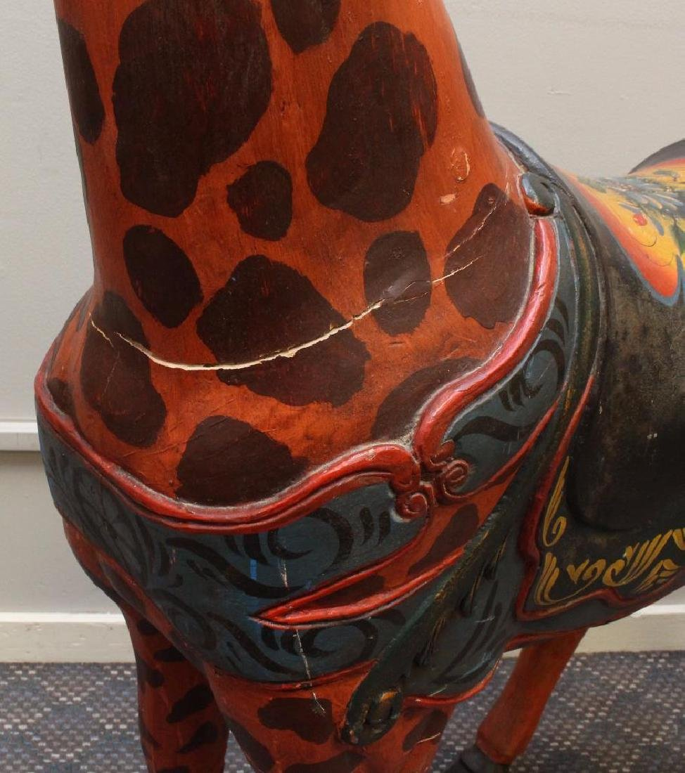 Painted and Carved Giraffe - 8