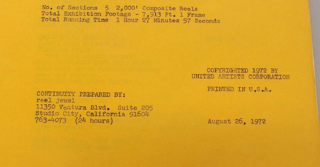 Woody Allen United Artists Movie Script - 3