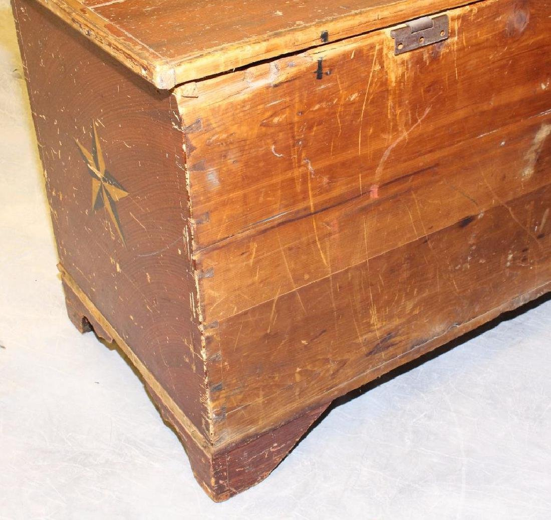 Paint Decorated Blanket Chest - 3