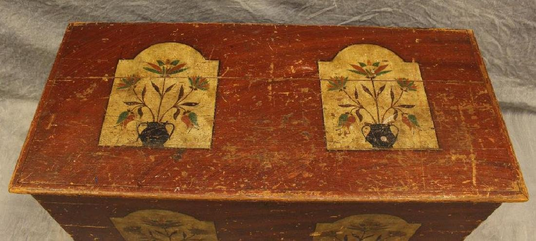 Paint Decorated Blanket Chest - 5