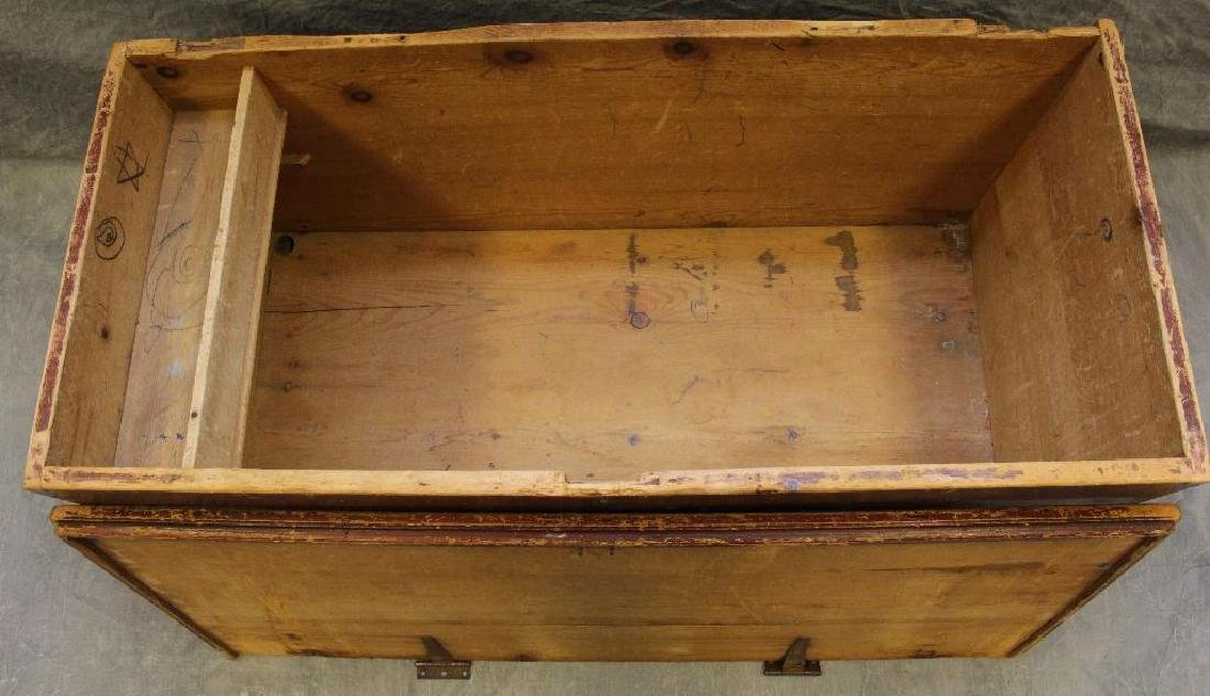 Paint Decorated Blanket Chest - 6