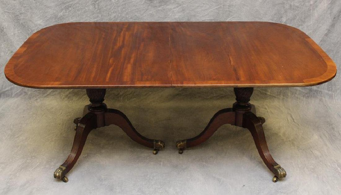 Mahogany Double Pedestal Dining Table - 2