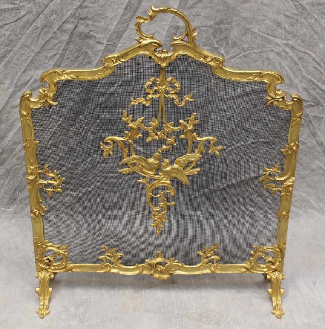 (4) Piece French Bronze Chenet - 2