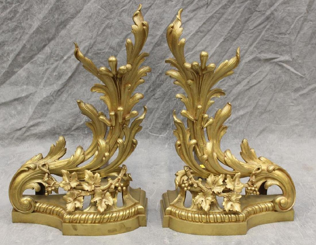 (4) Piece French Bronze Chenet - 5