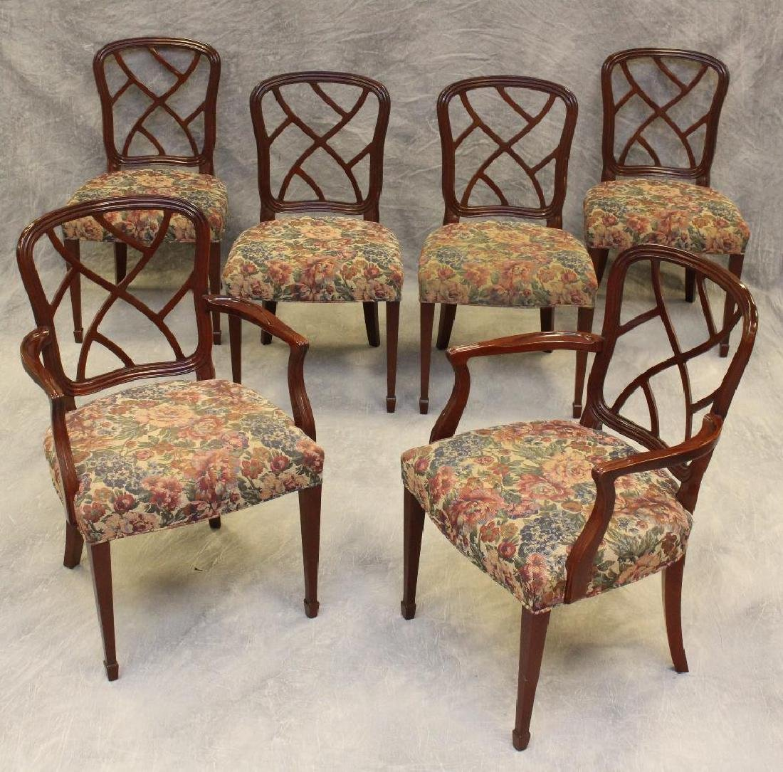 Set of (6) Kindel Mohagany Dining Chairs