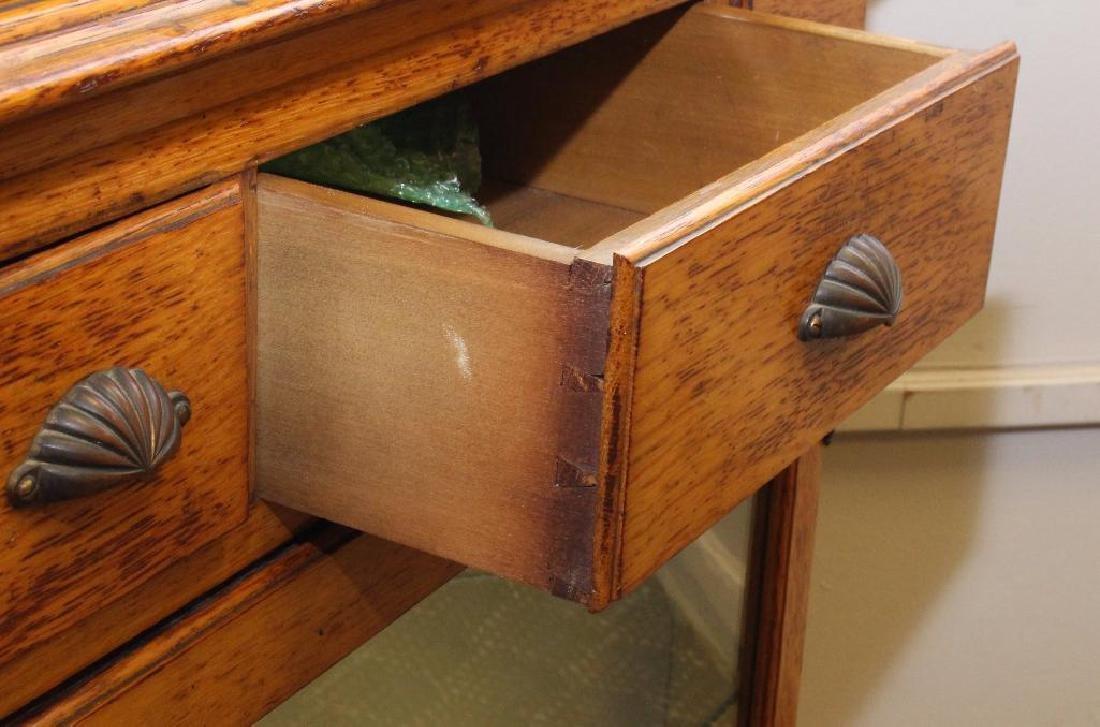 Oak Corner Cupboard - 5