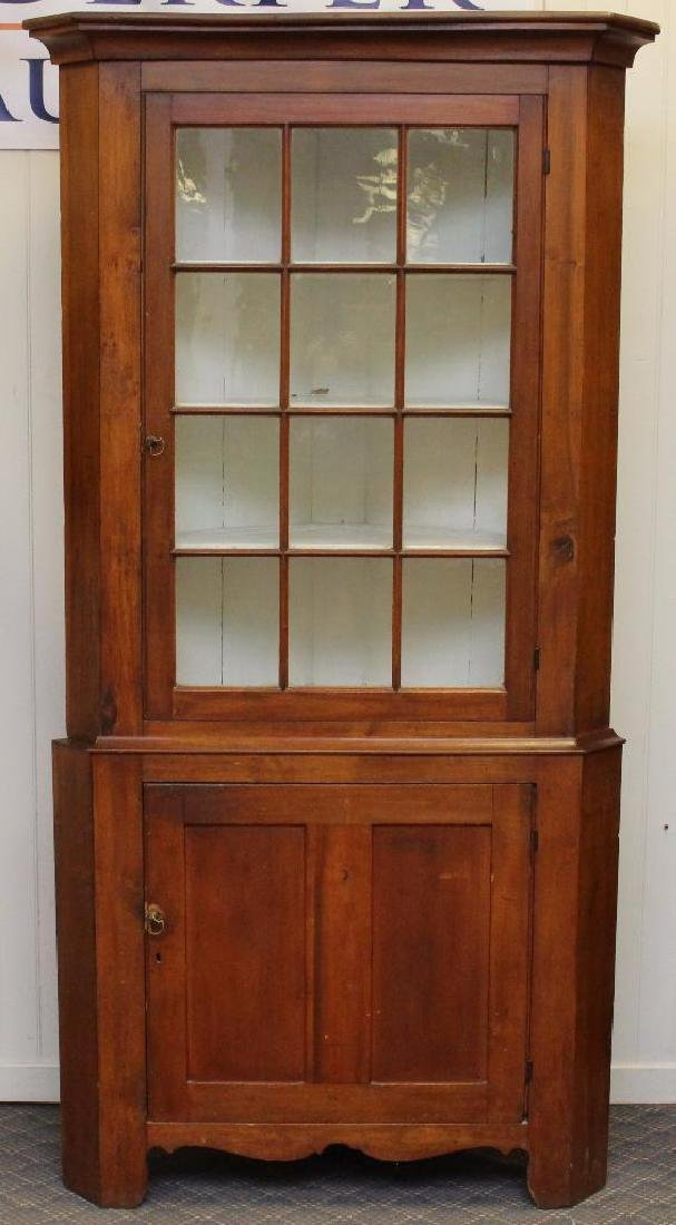 Pennsylvania Cherrywood Corner Cupboard